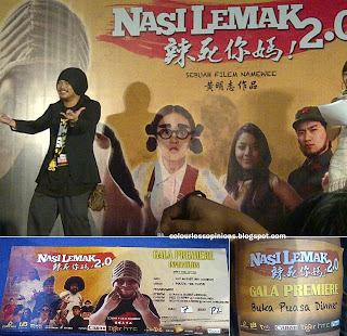 Namewee spiderman pose at Nasi Lemak 2.0 gala premiere movie screening