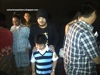 Namewee and junior at Nasi Lemak 2.0 gala premiere movie screening