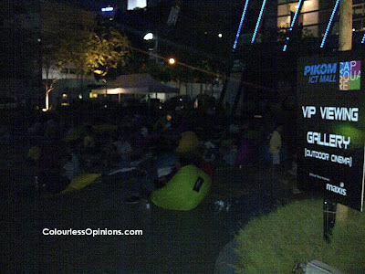 PIKOM ICT Mall Capsquare Grand Launch Outdoor Cinema bean bags