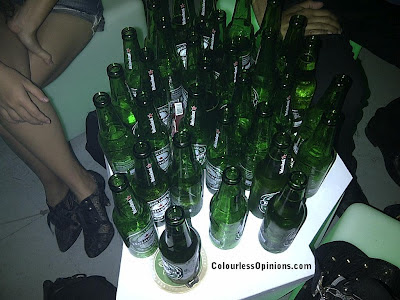Heineken empty bottles