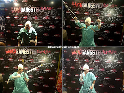 Hantu Gangster Gala Premiere Namewee fake injuries