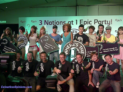 Carlsberg Where's the Party 2012 Penang Hard Rock Artist Line-up group photo performance