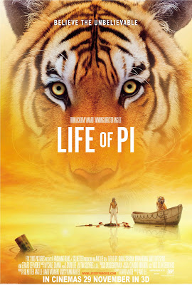 Life of Pi 2012 film large movie poster