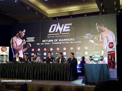 One FC MMA Return of Warriors KL Malaysia 2013 press conference
