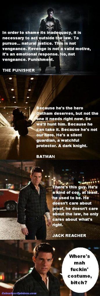Punisher Dark Knight Batman Jack Reacher meme