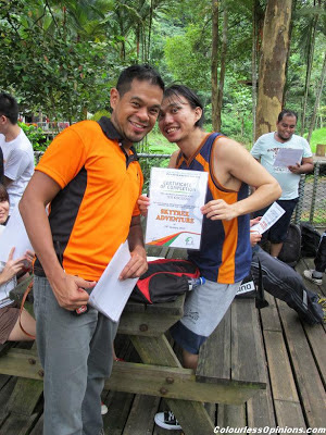 Skytrex Shah Alam Malaysia Extreme Challenge certificate of completion