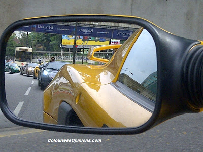 Side mirror of Lotus Exige S V6 during The Host Largest Lotus Convoy in Malaysia