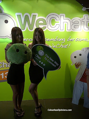 WeChat Party 2013 Neverland KL Malaysia models promoters girls with soft toy plushie