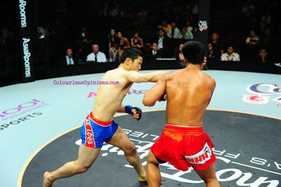Koji Oishi KO punch vs Honorio Banario ONE FC 9 Rise to Power