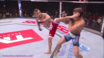 Vitor Belfort spinning back heel kick vs. knocks out Luke Rockhold UFC on FX