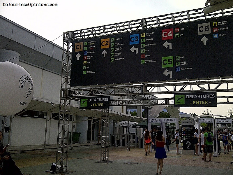 Entrance of Carlsberg Where's The Party 2013 (WTP IV) in Malaysia