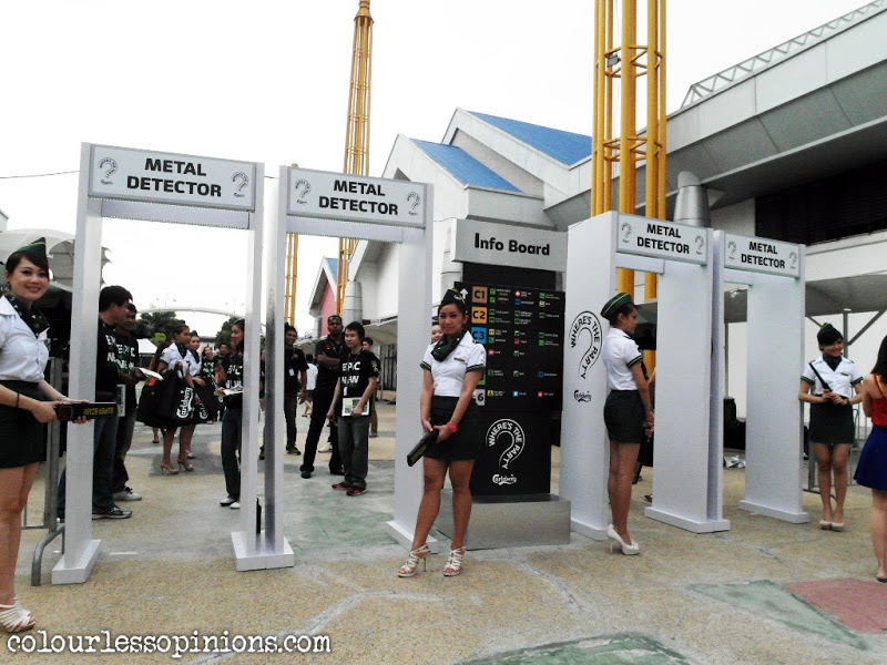 Metal detector entrance of at Carlsberg Where's The Party 2013 (WTP IV) in Malaysia