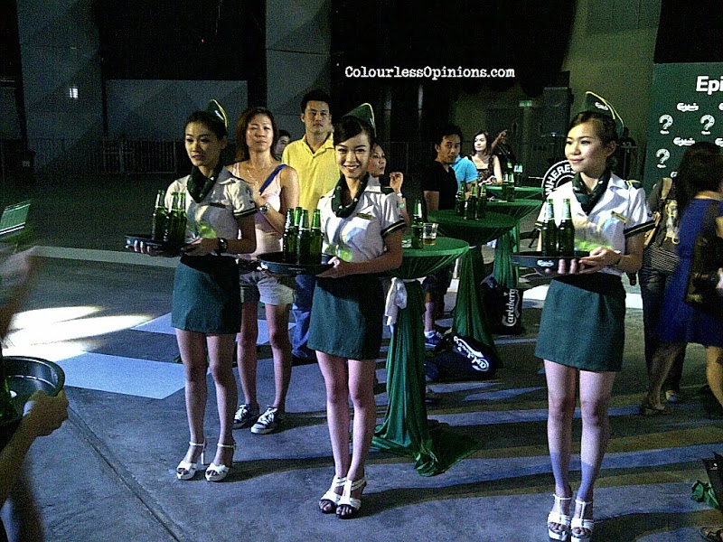 Stewardesses at Carlsberg Where's The Party 2013 (WTP IV) in Malaysia