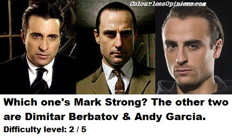 Andy Garcia, Mark Strong & Dimitar Berbatov