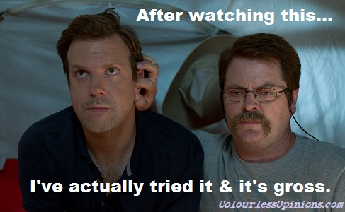 Jason Sudeikis ear-fucked in We're the Millers movie still meme