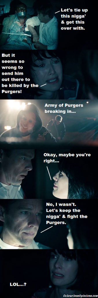 The Purge movie stills images meme