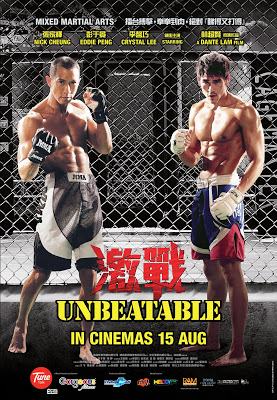 Unbeatable MMA HK movie poster malaysia featuring nick cheung & eddie peng