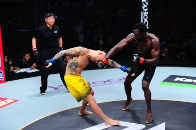 Kotetsu Boku punched by Vuiyisile Colossa in ONE FC 10 Champions & Warriors
