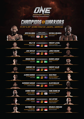 ONE FC 10: Champions & Warriors finalised card