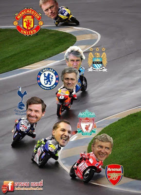 Arsenal EPL 2013-2014 bike race meme