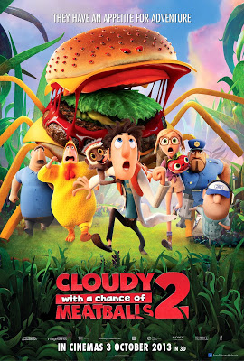 Cloud with a Chance of Meatballs 2 large movie poster malaysia release
