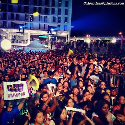 The concert crowd at Hitz.fm Birthday Invasion 2013