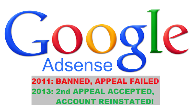 Google Adsense reinstated banned account on 2nd appeal