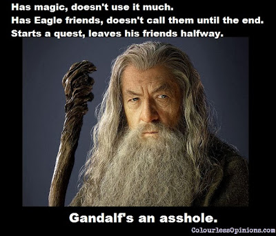 Gandalf The Hobbit asshole meme