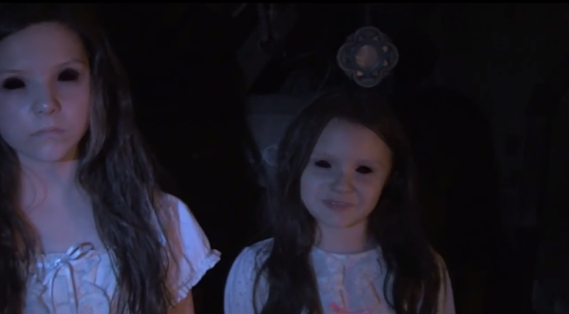 Paranormal Activity The Marked Ones still - little girls with black eyes