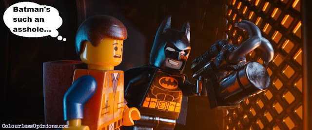 Lego Movie still meme - Batman & Emmet