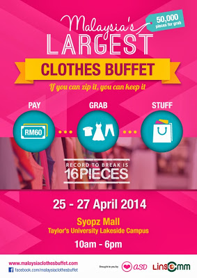 Malaysia's Largest Clothes Buffet 2014 poster