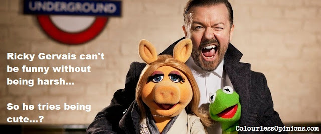 Ricky Gervais in Muppets Most Wanted meme