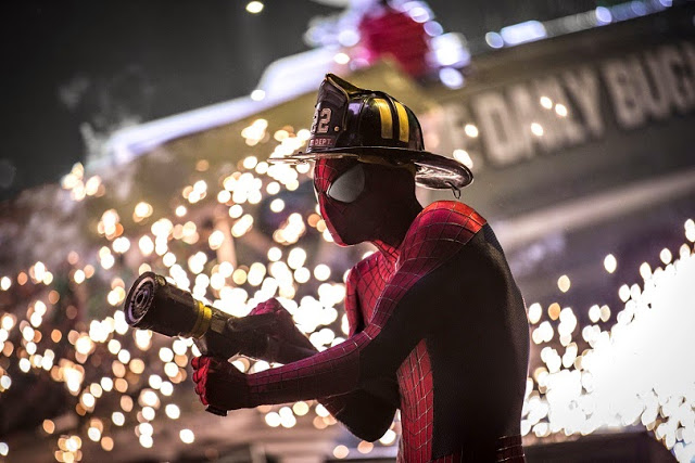 Fireman Spiderman 2 movie still