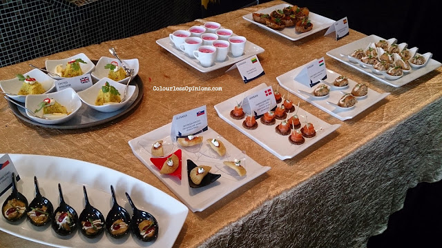 Food spread table of Europe Uncovered A Journey of 28 Dishes media launch in KL Malaysia
