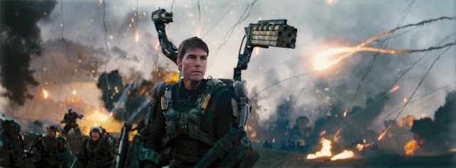 Tom Cruise as William Cage in Edge of Tomorow movie still