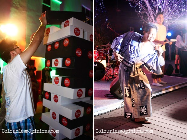 Large size Jenga & winner at Tune Hotels KLIA2 Pyjama Party #RoomerHasIt