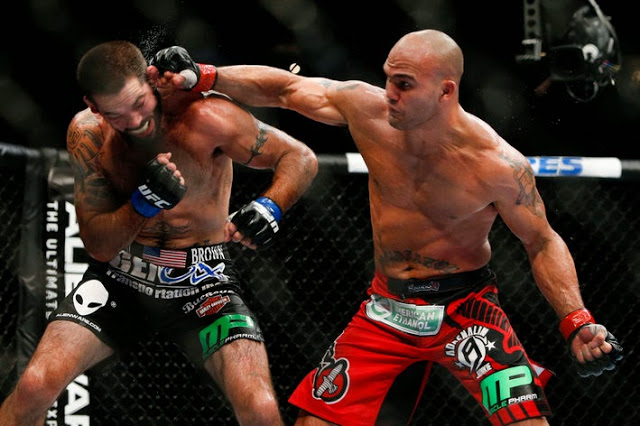 Robbie Lawler punch Matt Brown in UFC on Fox 12