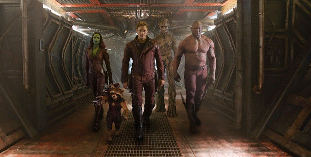 Guardians of the Galaxy movie still full group