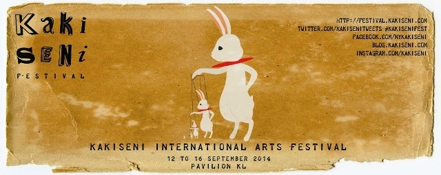 Kakiseni International Arts Festival 2014 Malaysia banner