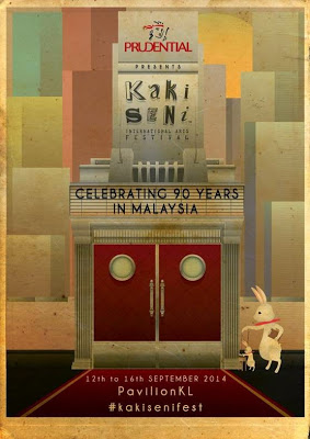 Kakiseni International Arts Festival 2014 Malaysia poster