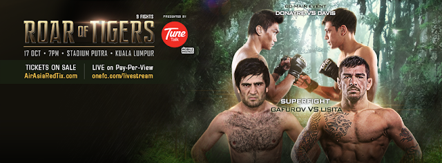 ONE FC 21 Roar of Tigers banner