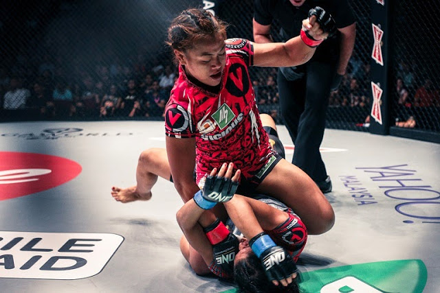 Ann Osman full mount on Aya Saied Saber in ONE FC 21 Roar of Tigers