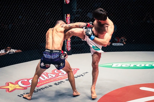 Marat Gafurov head kick Rob Lisita in ONE FC 21 Roar of Tigers
