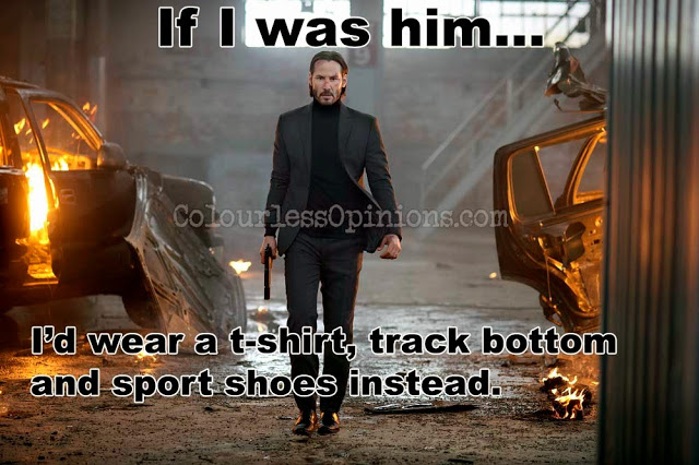 John Wick suit Keanu Reeves movie still meme