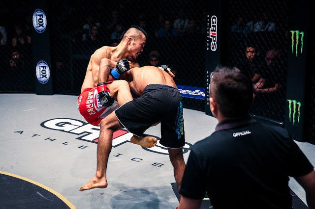 Bibiano Fernandes, Kim Dae Hwan  takedown ONE FC 23 Warrior's Way