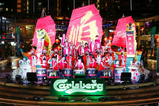 carlsberg malaysia cny 2015 chinese new year smooth sailing ship oasis ara damansara