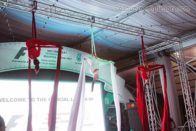 acrobatic performance at 2015 f1 malaysia grand prix launch klcc