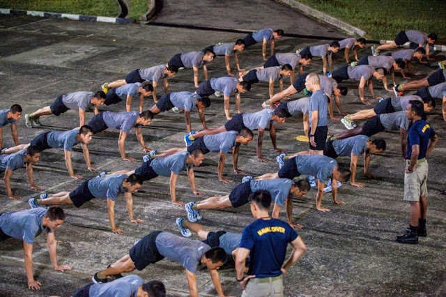 Ah Boys to Men 3 Frogmen still push ups