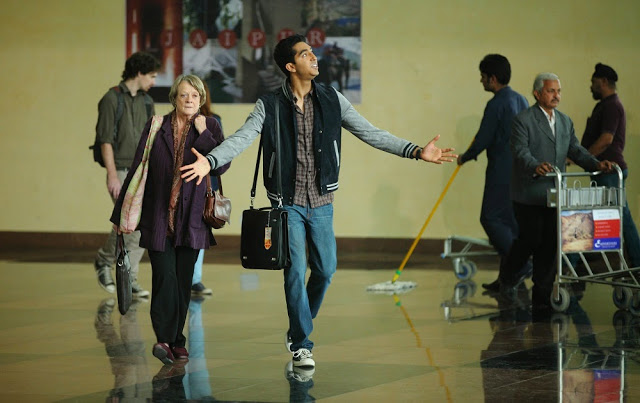 dev patel maggie smith second best exotic marigold hotel 2 still