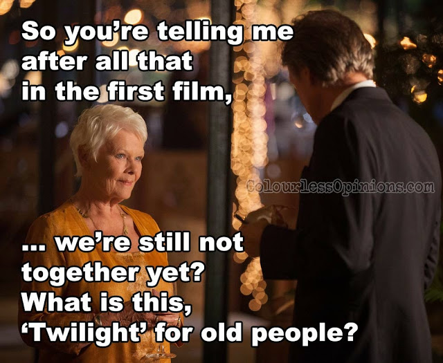 Judi Dench second best marigold hotel 2 meme